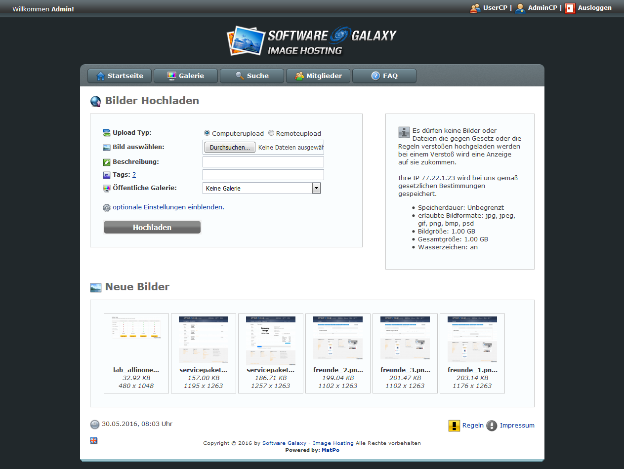 Software Galaxy - Image Hosting